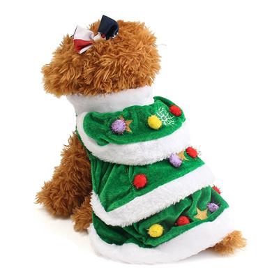 Qoo10 Christmas Dog Green Clothes Costume Pet Dog Cat Clothes
