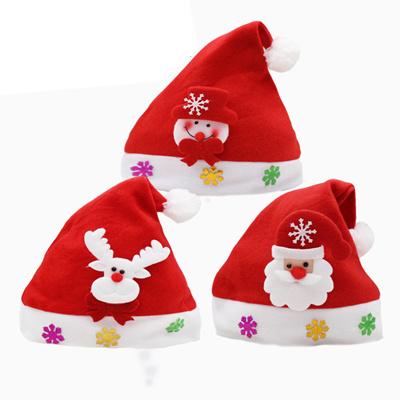 Children Kids Costume Christmas Hat Santa Claus Snowman Reindeer Cap Xmas Gift