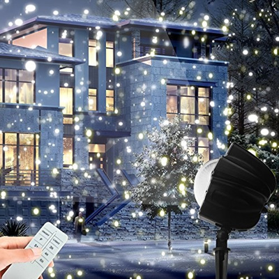 christmas led snowfall light rotating night light projector snow flurries spotlight wireless remote - Christmas Led Projector