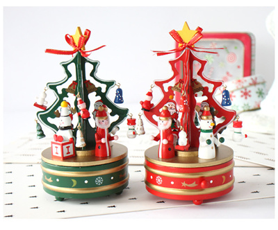 christmas musical box carouselrotating music boxchristmas decorations christmas tree music box music