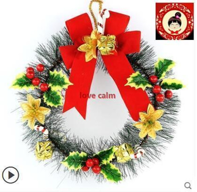 Small Christmas Wreaths.Christmas Tree Christmas Flower Pendant 30cm Mini Christmas Wreath Pine Bows Small Christmas Decorat