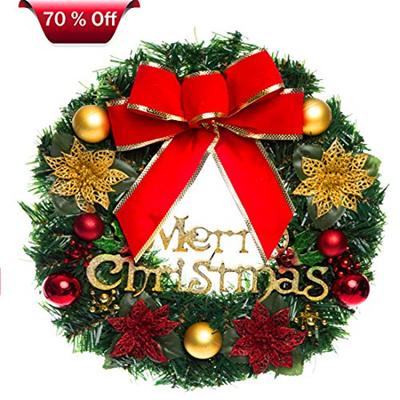 Qoo10 - Christmas Wreath Christmas Wreaths for Front Door Outdoor Hanger Decor... : Furniture & Deco