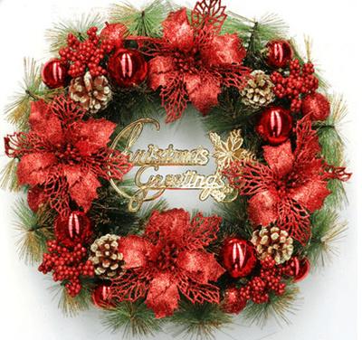 Christmas wreath door hanging Christmas decorations door decoration Nordic European 30 40 50cm hangi