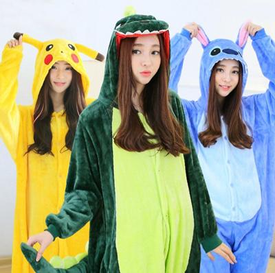 e0216783b Christmas Xmas party Minions Hello Kitty Couple Unisex Adult Cosplay  Kigurumi Animal Costume Pajamas Onesie warm