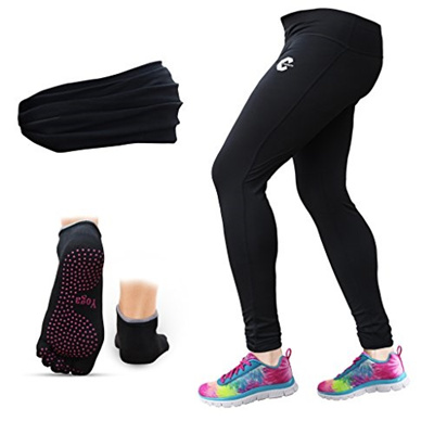 Qoo10 - Chromatic Women s Yoga Pants Leggings with FREE set of Headband  Pair ...   Sports Equipment dcb7749368