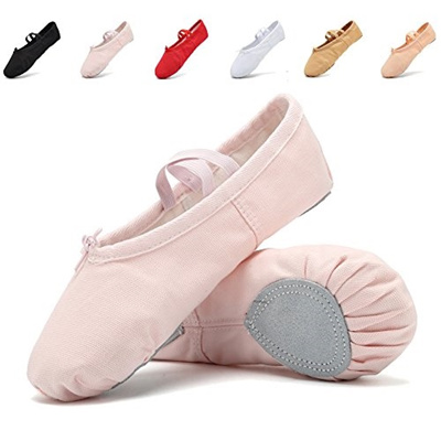 Women Kids Classic Canvas split-sole Ballet Slippers Dance Gymnastics Yoga Flats