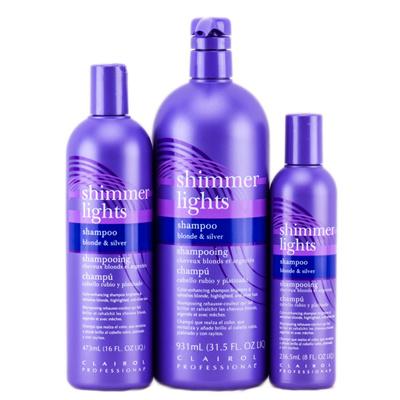 Elegant Clairol Shimmer Lights Shampoo/Conditioner/red Blonde Silver