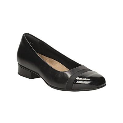 9a4fc9e3b9 Qoo10 - (CLARKS) Clarks Keesha Rosa - Black Leather Womens Shoes- : Shoes