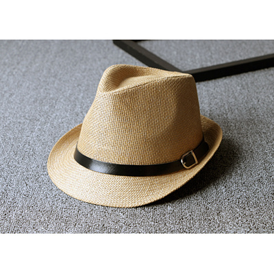 a4d67606344 Qoo10 - Classic fashion leisure Jazz Hat man and ladies belts straw summer  Kor...   Men s Bags   Sho.