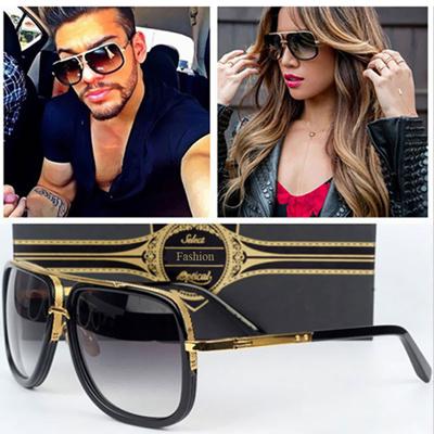 Classic Fashion women Men Square sunglasses Celebrity Brand designer UV400  Mirror Lady Super star 2190575232