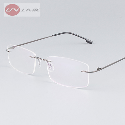 cbcf13b507 Qoo10 - Classic Mens Pure Titanium Rimless Glasses Frames Myopia Optical  Frame...   Men s Bags   Sho.