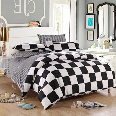aa28a2615c3 Qoo10 - Classical Black and White Cotton Bedding Set Home Textile Bed Linen  Du...   Major Appliances