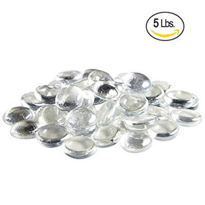 Qoo10 Clear Flat Marbles Pebbles Glass Gems For Vase Fillers