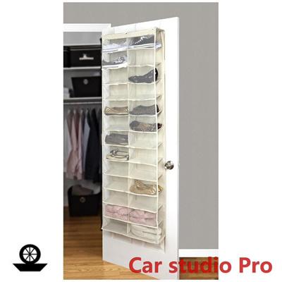 qoo10 clear household 26 pocket over the door shoes rack storage organizer h furniture deco. Black Bedroom Furniture Sets. Home Design Ideas