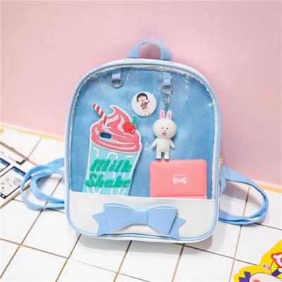 9417190fe CLEAR RUCKSACK Merch Transparent Pin Display Window Bag Backpack