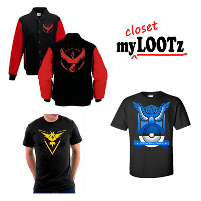 27af8dda5db6c    CLEARANCE    Pokemon Go Team T-shirts and Jackets for