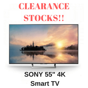 CLEARANCE STOCKS BUY AT RM 2590 With RM 300 DISCOUNT COUPON Sony 55inch Smart HDR 4K UHD LED TV 55X7000E 2017 Model FREE SHIPPING READY STOCKS