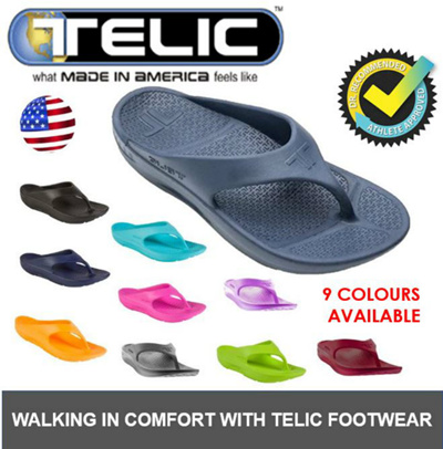 32e79ec324e674 ☆Authentic  TELIC ☆ USA Flip Flop Sandals ☆ Unisex Sandal   Slipper Anatomy