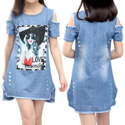 Clothing For Girls Denim Dress Toddler Girls Party Dress Teenager Girls  Summer Dresses