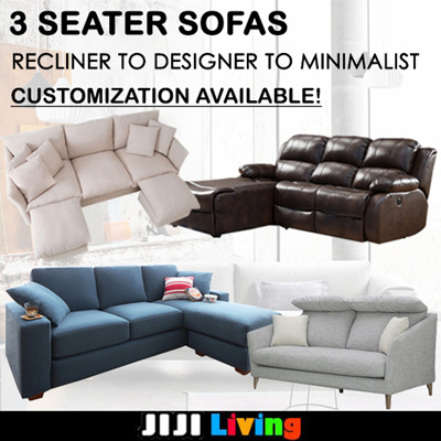 CNY 2018 Customization 3 Seater Sofas! ☆Recliner Chair  ☆Designer/Minimalistic ☆
