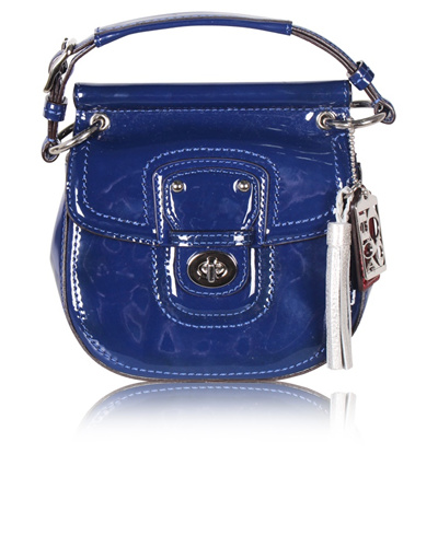 Qoo10 - 100% Authentic Blue Patent Leather Mini Bag   Tas   Dompet 3fee15a627