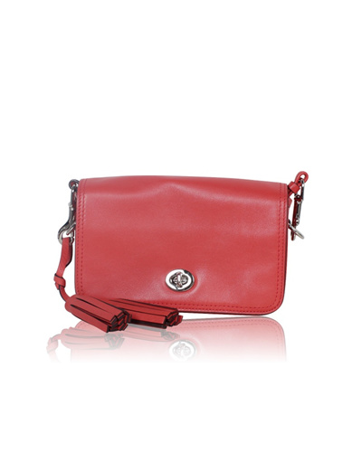 59db83b88f Qoo10 - 100% Authentic Legacy Penny Orange Leather Crossbody bag ...