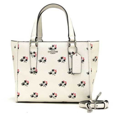 38b4377276062 Coach Bag Shoulder COACH Outlet Mini Crosby Carry All Printed Cross Grain  Leather 2 Way Bag