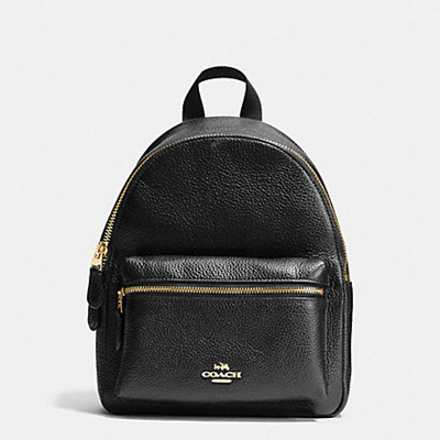 15624e4316912 DIRECT SHIPMENT FROM USA - COACH - MINI CHARLIE BACKPACK IN PEBBLE LEATHER