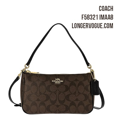 f570417db Coach Messico Top Handle Pouch In Signature Crossbody Sling Bag Outlet  Handbag F58321 Gift Idea