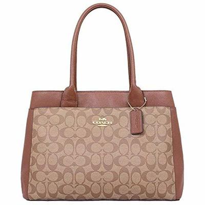 9f0461fd98bc2 Qoo10 - Coach Signature Canvas Casey Tote Handbag   Bag   Wallet