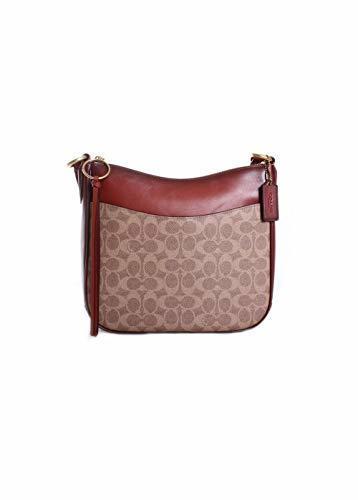 ba59f8759e170 Qoo10 - COACH Womens Coated Canvas Signature Chaise Crossbody   Bag   Wallet