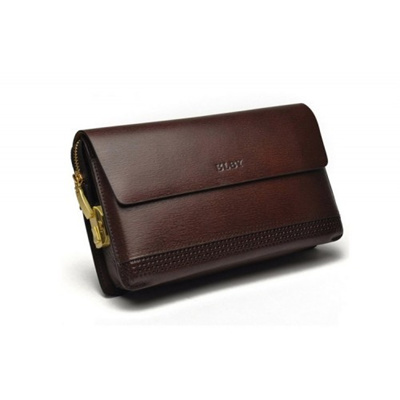 Men Premium Genuine Leather Clutch Bag with Password Security Lock (Brown) 38e2e8f297400