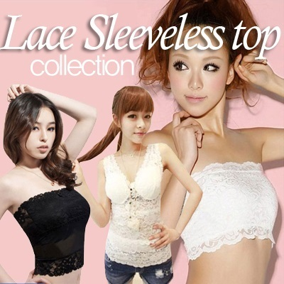 61ddfa4ef21e7 FAST SHIPPING ◅21 style Ribbon lace sleeveless top ☆ Direct from Korea