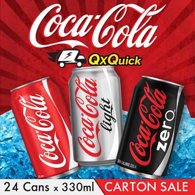 Coke/ Coke Zero/ Coke Light Long Can Soft Drink Special (Long Expiry)
