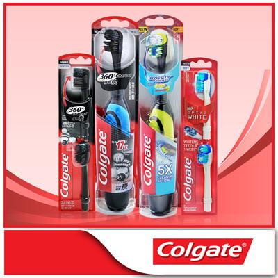 Colgate[Colgate]360 Battery Charcoal/Optic White Toothbrush  Refill/CharcoalToothbrush