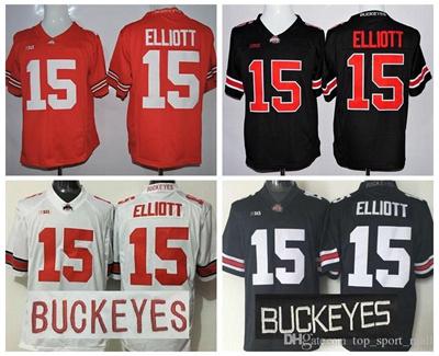 low priced 85ff0 16ce7 College 15 Ezekiel Elliott Jersey Ohio State Buckeyes Ezekiel Elliott  Football Jerseys Hot Sale Men