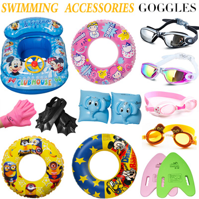 06c33c098b3 2019 Adult kids Swimming Accessories ☆ Swimming ring ☆ Diving goggles ☆  Inflatable boat ☆ Life