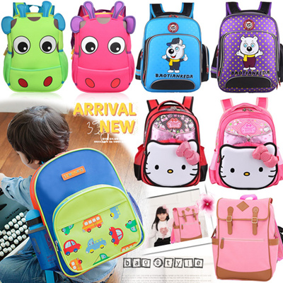 b43ee9e3b2d2 2019 Children school bags ☆ Cartoon backpack   Shoulder bag   Kids animals  schoolbag   Korea