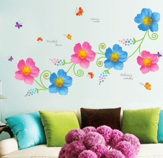 Colorful Erfly Flower Tree Wall