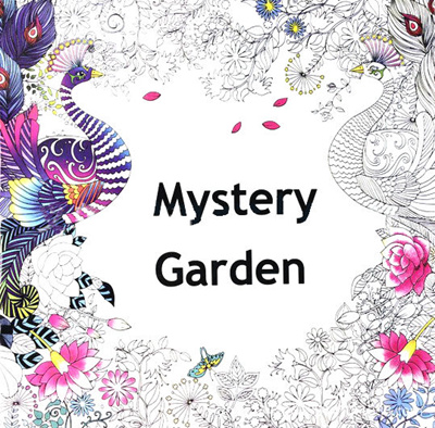 ★Coloring Book★Secret Garden Colouring Books Adult Stress Relief 16 designs
