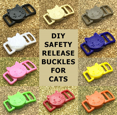 Colourful Diy Plastic Buckles Breakaway Quick Safety Release Cat Collar Pet Kitten Crafting Material