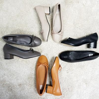 Qoo10 Comfortable Ribbon Middle Heel Pumps Low Heel Women Shoe