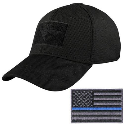 (Condor Outdoor)/Accessories/Hats/DIRECT FROM USA/Condor Tactical Flex Cap  with Thin Blue Line Moral