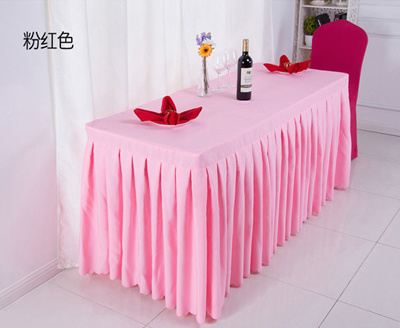 Qoo Conference Room Tablecloth Pink Office Sign Cloth Table - Conference table skirts