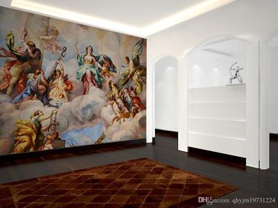 Qoo10 continental palace naked angel beauty wallpaper mural