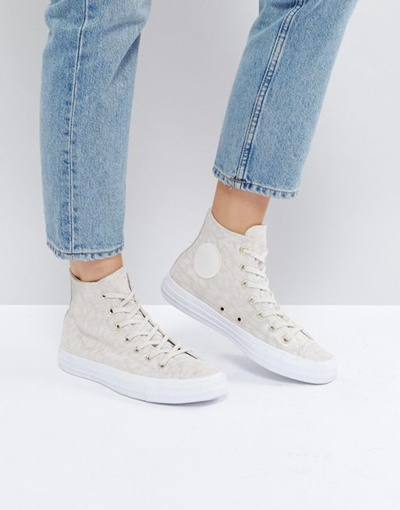newest c44e2 a55f0 Qoo10 - Converse Chuck Taylor All Star Hi Top Sneakers In Pale Leopard  Print   Shoes