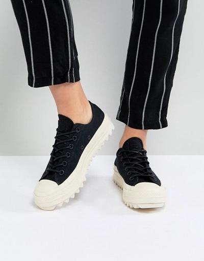 Converse Chaussures D'ascenseur D'ondulation De Bœuf Noir lM2mvm