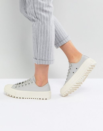 5d28f3be4102 Qoo10 - Converse Chuck Taylor All Star Lift Ripple Ox Sneakers In Pale Gray    Shoes