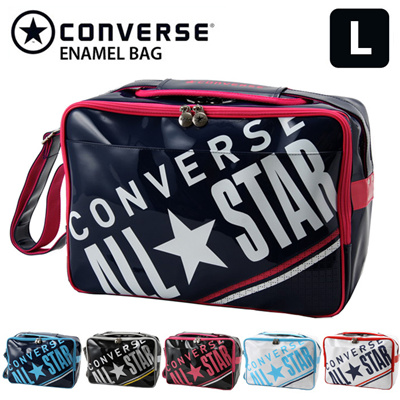 82dba3fbb7db CONVERSE sports bag enamel bag school bag shoulder bag L size C1612052 27L