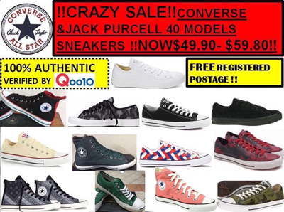 7fb93bf0cda876 MEGA SALE !! CONVERSE JACK PURCELL AND SLIP ON SHOES !